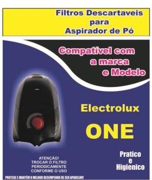 Saco Descartável para Aspirador de Pó Electrolux ONE - Saco para Aspirador de Pó Electrolux - Kit c/