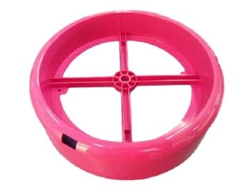 Plafon Base Suporte da Luminária do Ventilador de Teto VENTISOL - Modelo Petit Fênix Diamond Rosa -