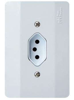 Conjunto Tomada Elétrica 2P+T 20A Branca 4x2