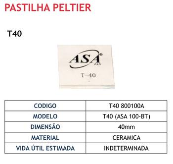 Pastilha Termoelétrica Peltier T40 12 Volts - Para Bebedouro e Purificador de Água