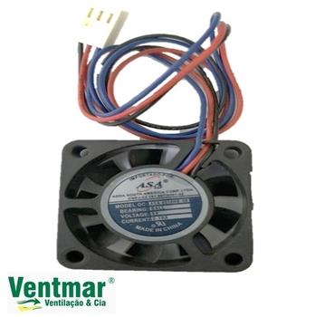 Exaustor Microventilador 04cm - Cooler Asafan ASA 40x40x10mm 3Fios 4010HB-05 5v 0,18A - Mancal c/Rol