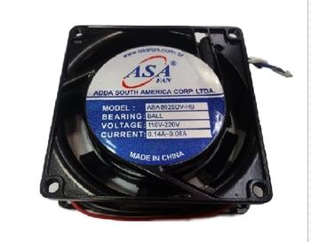 Exaustor Microventilador 08cm - Asafan ASA 8025DV-HB Bivolt 0.14A~0.06A - Cooler Asafan 80x80x25mm B