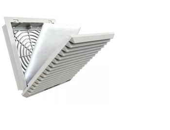 Grade Ventilação 15x15cm 150mm Quadrada Plástica de Embutir Fixa com Filtro - 150mm - FAN GUARD P150 - Tela Plastica