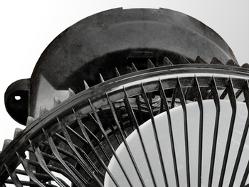 Ventilador de Teto Loren Sid Orbital 30cm 220v Preto - Rotação em 360° Grade Plástica Turbo (OCP-000