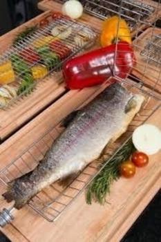 Espeto Grelha para Churrasco - Grelha para Assar Peixe - Grelha para Assador Giratório Arke Vitta Premium E Vitta Smart - Grelha para Peixe - Arke