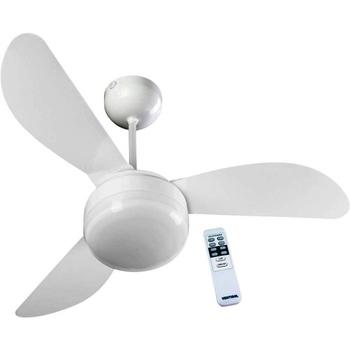 Ventilador de Teto Ventisol Fenix 127v Branco 3Pas Plasticas Tubarao - c/Luminária p/02-Lâmpadas - Controle Remoto 3Velocidades