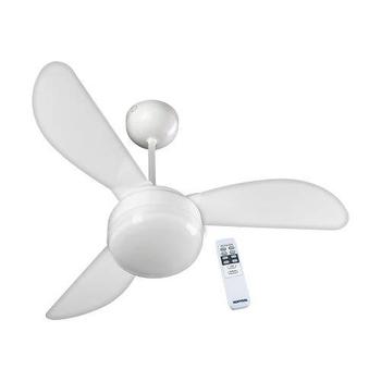 Ventilador de Teto Ventisol Fenix 220v Controle Remoto 3Velocidades Branco 3Pás - Ventisol Premium -