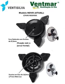 Hélice Ventilador Ventisilva 65cm 3Pás Pretas Kit C/4-Itens - Encaixe Meia Lua sem Bucha Eixo 16,0mm
