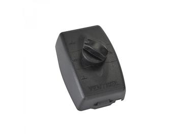 Chave para Ventilador Ventisol de Parede - Preta - Controle de Velocidade com Dimer Rotativo 200w c/Off Bivolts