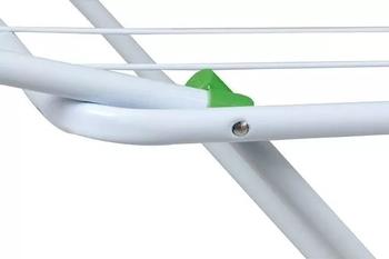 Varal de Chão Com Abas MAXI em Aço - Varal para estender Roupas - MOR 6010 A95xL70xC1,74