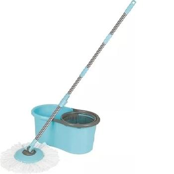 Esfregão Mop Giratório Limpeza Prática c/Balde de 13 Litros + Vassoura + Cabo - MOR 8298 Original * Modelo com Maior Capacidade de Água