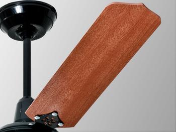 Ventilador de Teto Loren Sid Lumi M3 127Volts - Preto 3 Pás MD cor Mogno - Chave 3 Velocidades 127w