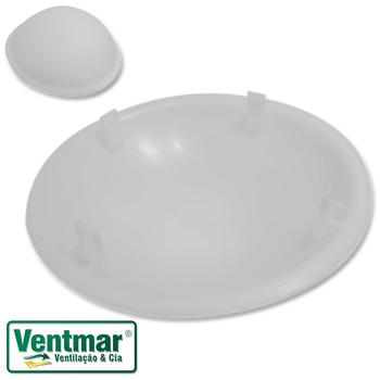 Globo Cúpula Plástica Ventilador de Teto Loren Sid Modelos Pérola Platun Primor Requinte - Globo Pér