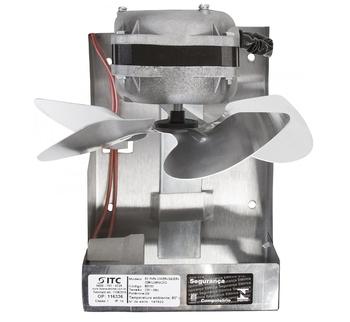Exaustor de 20cm para Churrasqueira 127v Com Soquete p/Iluminação - Vazão 570m3h Diâmetro 200cm - ITC ED1104