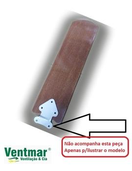 Pá Hélice para Ventilador de Teto TRON New Marbela - Pá MDF cor Mogno - Modelo Reta - Vendida P/Unidade - PATRON