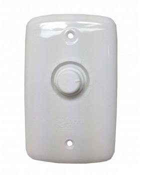 Chave para Ventilador de Parede Loren-Sid até 170w - Espelho 4x2 Dimer Rotativo Bivolts com Off para