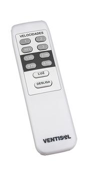 Ventilador de Teto Ventisol Flow 127v 135w - Luminária LED20W Luz Branca - c/Controle Remoto Total - Super Silencioso