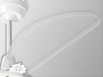 Ventilador de Teto Loren Sid Lumi M3 127v Branco 3Pás Tubarão Transparentes - Chave de 3Velocidades