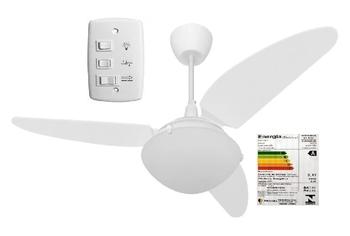 Ventilador de Teto Volare Ventax 220v Chave 3 Velocidades Branco 3 Pás Plásticas - Ventilador Volare