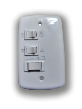 Chave para Ventilador LOREN SID M2/M3 127v Controle de Parede 3 Velocidades c/Capacitor de 07,0uF (2