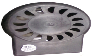 Capa do Motor do Ventilador Tron 50/60cm Plástica Preta