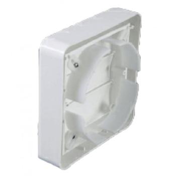 Grade Veneziana 12x12cm 120mm Quadrada Auto Fechante - Plástica Branca 12cm para Exaustor de 120mm