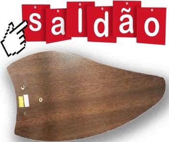 Pá Hélice para Ventilador de Teto - Folha Tabaco - Com Furos Diversos - Usada - SALDÃO
