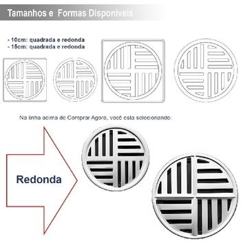 Grelha Ralo Redonda Anti Dengue 100mm Inox para Banheiro - Grelha Redonda Auto Fechante - Loren Protec