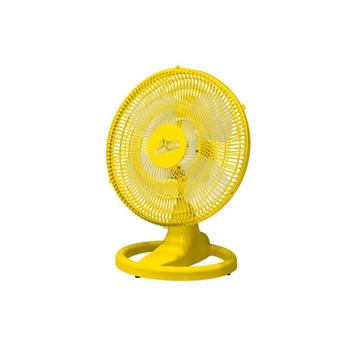 Ventilador de Mesa 50cm Venti-Delta Premium Bivolts 170w - Amarelo Grade Plástica Amarela - Hélice 4Pás - Ventilador para Mesa ou Parede