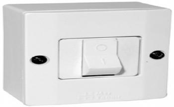Interruptor Elétrico 1 Tecla Liga/Desliga Bipolar 25A - Caixa de Sobrepor Sistema X - 25A - Cores Bipolar
