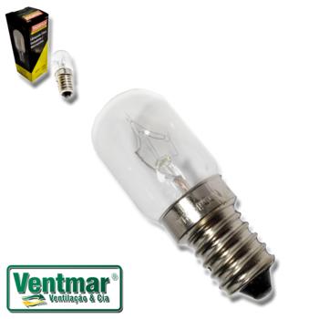 Lâmpada para Geladeira e Microondas - 127v 15w - Mine Lampada Incandescente para Geladeira e Microon
