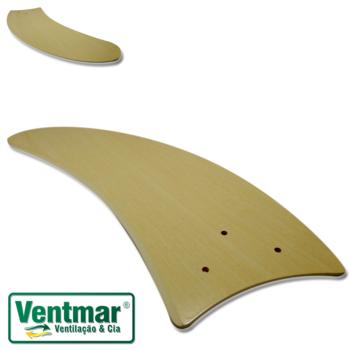 Pá Hélice para Ventilador de Teto - Pá Modelo Facao Curva - Textura Marfim - Para ventiladores Riopr