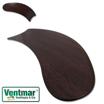 Pá Hélice para Ventilador de Teto - Pá Modelo Facao Curva - textura Tabaco - Para ventiladores Riopr