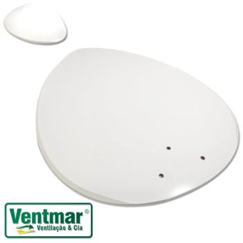 Pá Hélice para Ventilador de Teto RioPreLustres - Pá Modelo Focus - Cor Branca - Para Ventiladores R