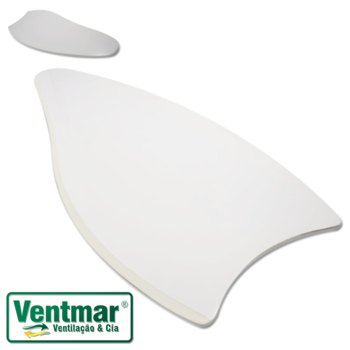 Pá Hélice Ventilador de Teto - Pá Modelo Folha - Cor Branca - Para Ventiladores Diversos Modelos - S
