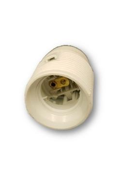 Soquete para Ventilador de Teto - Soquete com Rosca de Metal p/Niple para Globo Cúpula Plástica Pera
