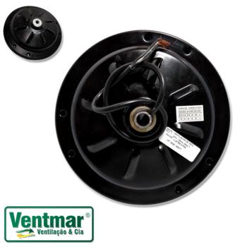 Motor para Ventilador de Teto Tron 127v 08,5uF Preto - Motor p/3Pás com Rosca p/Montar Luminária - Motor Tron AT 127v 14mm 6Furos