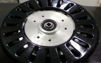 Motor do Ventilador de Teto Ciclone - 3Pás - 127v - Com Rosca  - Cor Preta - Eixo 12mm - MTCLNVT