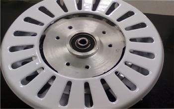 Motor do Ventilador de Teto Ciclone - 3pás - 220v - Branco - Sem Rosca - Eixo 12mm - MTCLNVT
