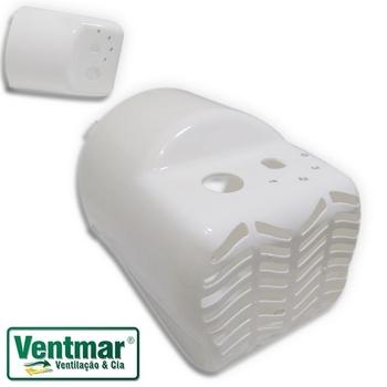 Capacete para Ventilador Ventisol 50cm - Modelo Mesa ou Coluna Turbo 6Pás Branco - Capacete 0376 Pla
