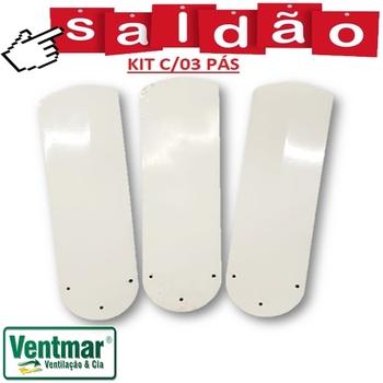 Pá Hélice Ventilador de Teto Ciclone *SEMI-NOVAS* - Ventilador Meridional Equatorial - Kit c/3 Pás M