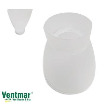 Globo Cúpula Plástica do Ventilador Arge Economic - Arge Ventus - Arlux Mini-Copo Pequeno - Globo Ab