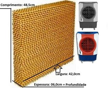 Colméia Para Climatizador MWM M4500 - A/P06 x L42 x C48,5cm - Painel Evaporativo para Climatizador M