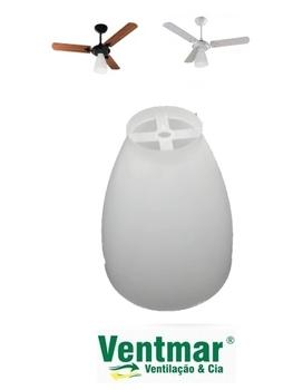 Globo Plástico para Ventilador de Teto Ventisol Wind Light - Globo Plástico Tipo Taça Aberta