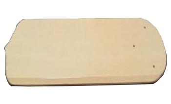 Pá Hélice Ventilador de Teto Reta de Madeira - Cor Marfim - Furos Diversos - Usada