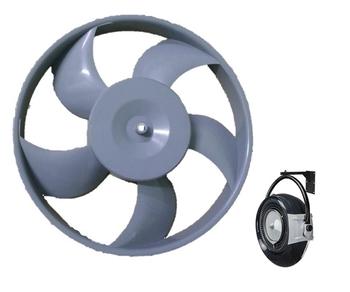 Helice para Climatizador Ventisol de Parede 5Pas Cinza - Climatizador Ventisol de Parede CLP01 CLP02 - Furo do eixo 8mm - Giro Anti-Horário