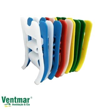 Prendedor de Roupas Ecológico Plástico Color - Kit c/10 Unidades