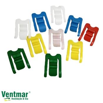 Prendedor de Roupas Plástico Ecológico Coloridos - Kit c/06 Unidades