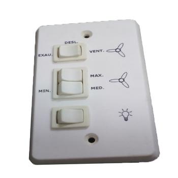 Chave para Ventilador de Teto Loren Sid 110Volts - Chave para ventilador Aliseu Antigo - Chave 3 vel