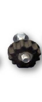 Parafuso com Porca Borboleta e Capa Plástica Estriada Redonda para Travar Suporte Ventiladores Oscilantes - Cor Preta - Vendido p/Unidade